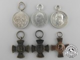 Six Miniature German Imperial Orders & Decorations