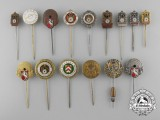A Lot of Fifteen German Shooting Award Pins & Badges