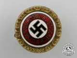 An NSDAP Golden Party Badge; Small Version