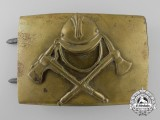 A Pre-1934 German Fire Defense Enlisted Buckle; Large Size