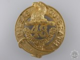 A 48th Highlanders Regiment Cap Badge c.1904