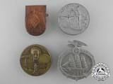 Four Second War Period German Tinnies & Badges