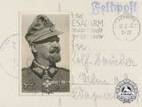 "A War Time Signed Postcard of General der Gebirgstruppen Julius Alfred ""Papa"" Ringel"