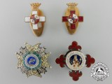 Four Spanish Miniature Orders & Decorations