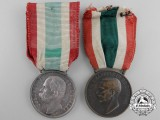 Two Italian Unity Medals; 1870 & 1918