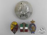 Four Second War Period Italian Fascist Badges