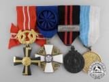 A Second War Finnish Army Medal Bar