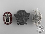 Three German Pin Back Badges
