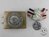 Two German Imperial Items, Buckle and Medal