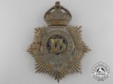 A 1904 Pattern 13th Canadian Militia Helmet Plate