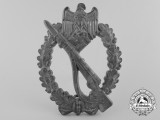 An Infantry Badge; Silver Grade by Friedrich Linden, Lüdenscheid