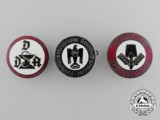 Three German Membership Badges