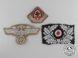 Three Embroidered German Insignia