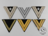 Six Assorted Kriegsmarine and Army (Heer) Chevrons