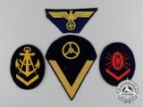 Four Kriegsmarine Insignia