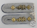 A Set of German Army Medical Officer Shoulder Boards