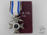 A Bavarian Military Merit Cross 2nd Class with Swords & Case