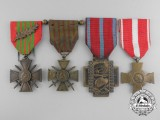 Four Belgian and French Medals & Decorations