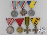 Seven Austro-Hungarian Medals and Awards
