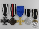 Five First War Prussian Medals, Awards, and Decorations