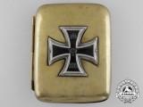 A First War German Cigarette Case with Iron Cross 1914