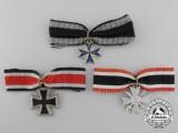 German Federal Republic; Three 1957 Issue Miniature Awards