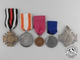 Five Prussian Medals, Awards, and Decorations