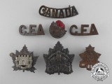 Seven First World War Canadian Badges & Insignia