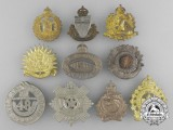 Ten Second War Period Cap Badges