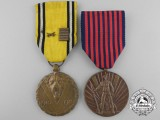 Two Second War Belgian POW Medals & Awards