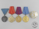 Five Yugoslavian Medals, Awards & Decorations