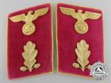 A Pair of NSDAP  'Reichsleitung Abschnittsleiter' Collar Tabs