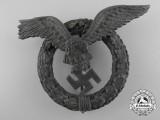 A Rare Round Wreath Version Luftwaffe Pilot's Badge by Juncker