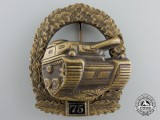 "A 1957 Model German Tank Badge; Special Grade ""75"""