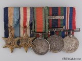 A Canadian Second War Service Medal Bar