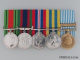 A Canadian WWII & Korean War Medal Bar