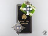 A Cased Saxon Order of Albert; Komturkreuz by Glaser & Sohn