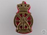 A Christian IX Danish Jydske Transport Regiment Cap Badge