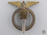A Czechoslovakian Socialist Air Force Pilot Badge; 1st Class