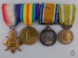 A Fine First War Canadian Medal Group to Cpl. Charbonneau