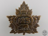 A First War 125th Battalion Cap Badge