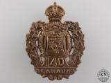 A First War 140th Battalion Cap Badge