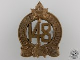 A First War 148th Battalion Cap Badge