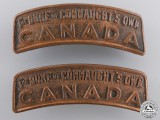 A First War 158th Infantry Battalion Shoulder Title Pair