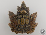 A First War 180th Infantry Battalion Cap Badge CEF