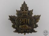 """A First War 201st Battalion """"Toronto Light Infantry"""" Cap Badge"""