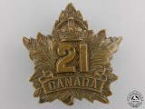 A First War 21st Infantry Battalion Cap Badge