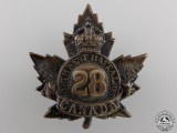 "A First War 28th Infantry Battalion ""North West Regiment"" Cap Badge"