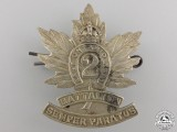 "A First War 2nd Battalion ""East Ontario Regiment"" Cap Badge"