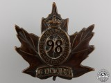 "A First War 98th Battalion ""Lincoln & Welland"" Cap Badge"